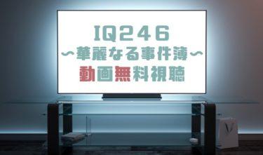 ドラマ|IQ246華麗なる事件簿の動画を1話から全話無料で見れる動画配信まとめ