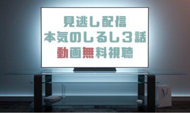 ドラマ|本気のしるし3話の見逃し動画を無料で見れる動画配信まとめ