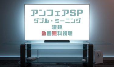 ドラマ|アンフェアSPダブルミーニング連鎖の動画を無料で見れる動画配信まとめ