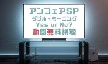 ドラマ|アンフェアSPダブルミーニングYes or Noの動画を無料で見れる動画配信まとめ