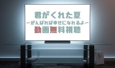 ドラマ|君がくれた夏(24時間テレビ)の動画を無料で見れる動画配信まとめ